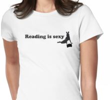 Reading is sexy Womens Fitted T-Shirt