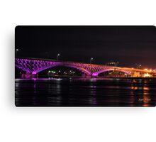 Spotlight on the Peace Bridge Canvas Print