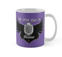 My Blood Type Is Damon Purple & Black VD Fan Logo Mug