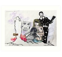 'THE ARTIST IN LOVE'  Art Print