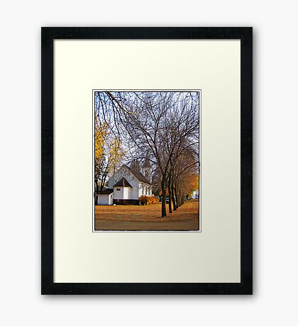 Beneath the Towering Trees Framed Print
