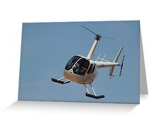 The Helicopter ride Greeting Card