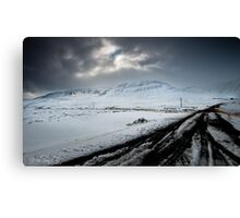 Surrounded By Snow Canvas Print