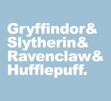 Hogwart Houses Baby Tee