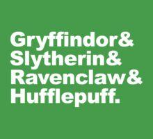 Hogwart Houses Kids Tee