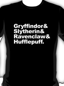 Hogwart Houses T-Shirt