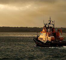 RNLI lifeboat, Evening trip by David Wheeldon
