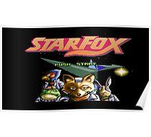 Starfox 8 bit Poster