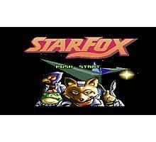 Starfox 8 bit Photographic Print