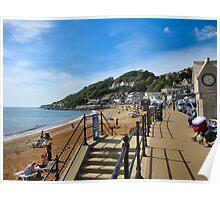 The quaint English seaside resort..Ventnor. Isle of Wight. UK. Poster