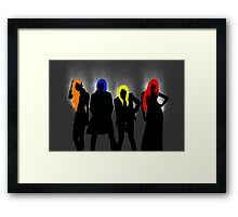 2NE1 Card 2 (without lips) Framed Print