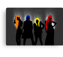 2NE1 Card 2 (without lips) Canvas Print