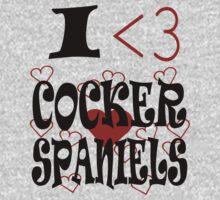 I <3 Cocker Spaniels Kids Tee