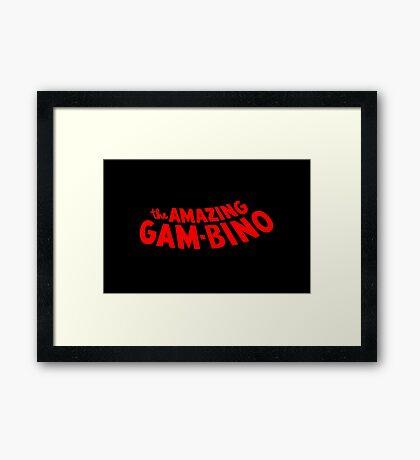 The Amazing Gambino Framed Print