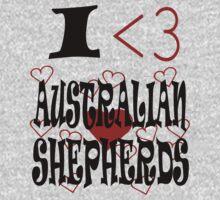 I <3 Australian Shepherds by veganese