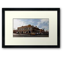 Charging past the Burly Framed Print