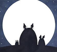 Totoro Moonlight by Optimistic  Sammich