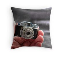 Camera in Hand Throw Pillow