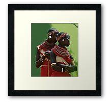 Portrait of Samburu Girls II Framed Print