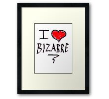 i love bizarre heart  Framed Print