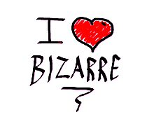 i love bizarre heart  Photographic Print
