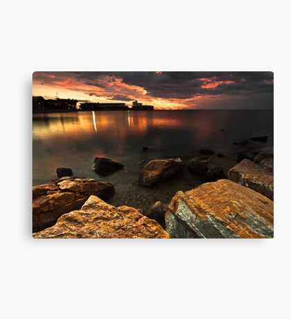 Red Morning Canvas Print