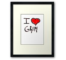 i love grim heart  Framed Print