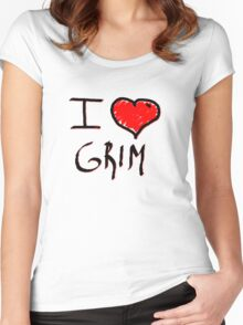 i love grim heart  Women's Fitted Scoop T-Shirt
