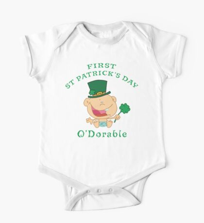 First St Patrick's Day One Piece - Short Sleeve