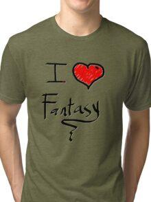 i love fantasy heart  Tri-blend T-Shirt