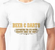 Beer and Darts Unisex T-Shirt