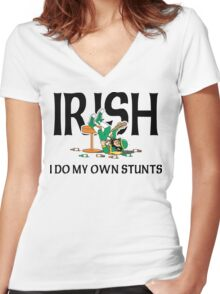Funny Irish Drunk Women's Fitted V-Neck T-Shirt