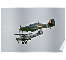 Sea Hurricane and Hawker Hind Poster