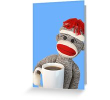 Coffee Monkey Greeting Card