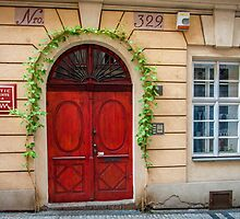 Praha: The Red Door by Jacinthe Brault