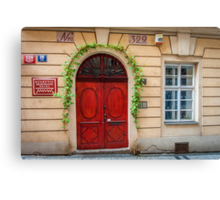 Praha: The Red Door Canvas Print