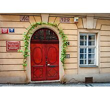Praha: The Red Door Photographic Print