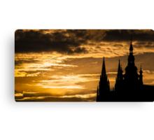 Praha: The Silhouette Canvas Print