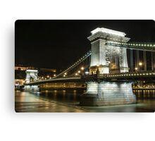 Budapest at Night Canvas Print