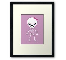 girl skull Framed Print