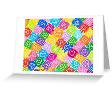 RAINBOW CHARACTERS Greeting Card