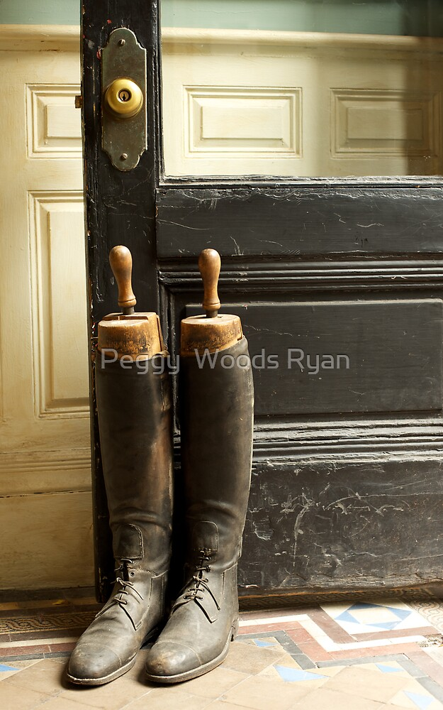Vintage Riding Boots by Peggy  Woods Ryan