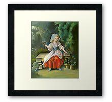 Red Apron Framed Print