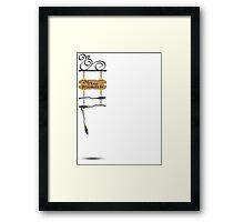 The Three Broomsticks Framed Print
