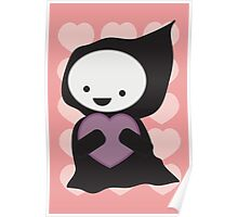 Grim Reaper with Heart Poster