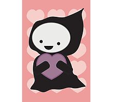 Grim Reaper with Heart Photographic Print