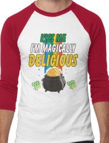 Kiss Me I'm Irish Men's Baseball ¾ T-Shirt