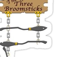 The Three Broomsticks (Bigger) Sticker