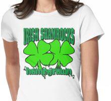 Irish Shamrocks Womens Fitted T-Shirt