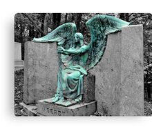 The Weeping Angel {Haserot family plot} Canvas Print